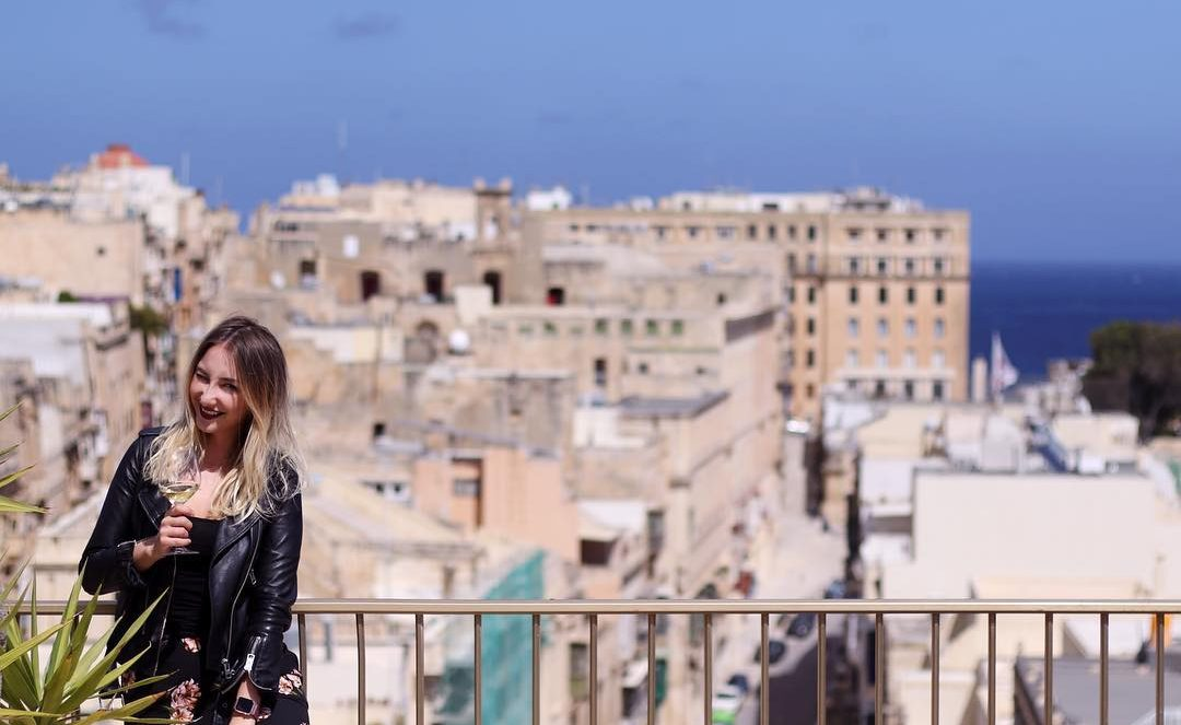Prösterchen über den Dächern Vallettas